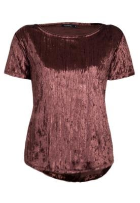 Blusa Lucy in the Sky Plisse Marrom