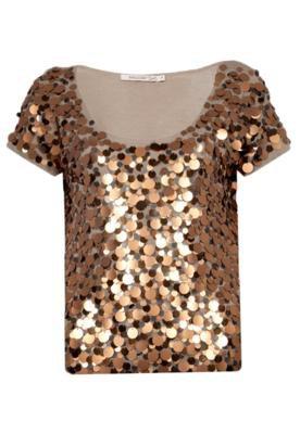 Blusa Shoulder Glamour Bege