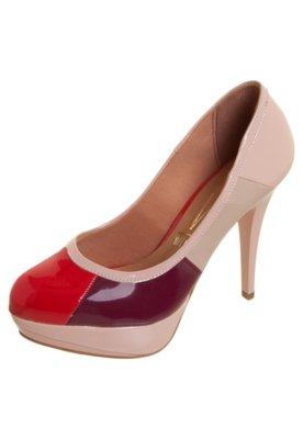 Sapato Scarpin Vizzano Recortes Rosa