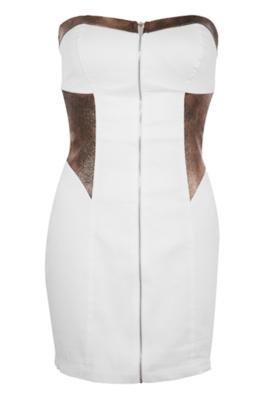 Vestido Marie Branco - Pink Connection