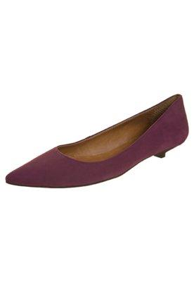 Sapato Scarpin Bico Fino Baixo Vinho - Andarella