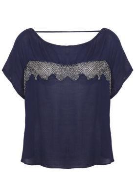 Blusa Espaço Fashion Vidrilho Azul