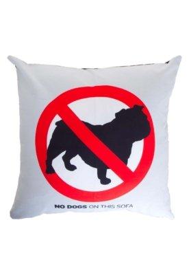 Capa de Almofada Meninos No Dog 01 Bulldog Cinza