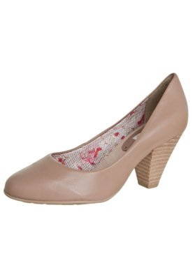 Sapato Scarpin Bottero Salto Médio Básico Bege