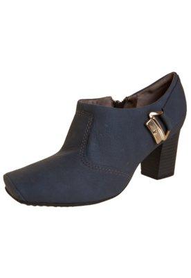 Ankle Boot Piccadilly Salto Grosso Detalhe Fivela Traseiro A...