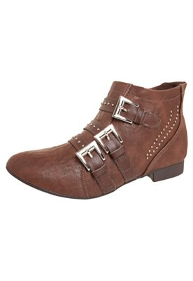 Ankle Boot Fivelas e Cravos Marrom - Dakota