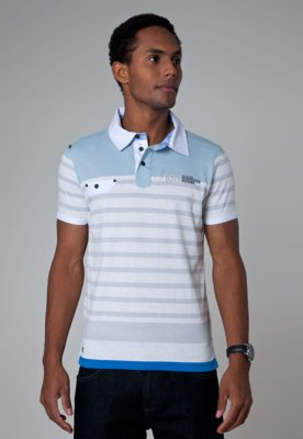 Camisa Polo Gangster Larry Azul