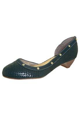 Sapato Scarpin FiveBlu Vazado Tachas Verde