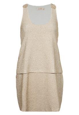 Vestido Camadas Glam Dourado - 3:AM