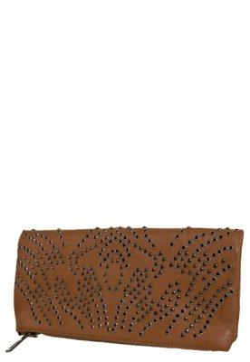 Bolsa Ellus Carteira de Mão Borda da Pedrarias Caramelo