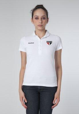 Camisa Polo Reebok São Paulo Classic Branca