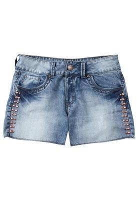 Bermuda Jeans Daria Bronze Azul - Colcci