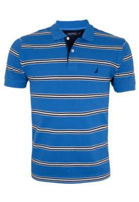 Camisa Polo Bordado Azul - Nautica