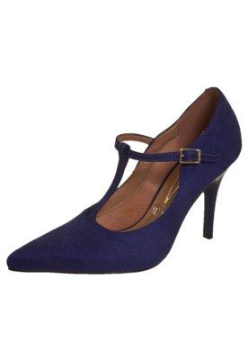 Sapato Scarpin Vizzano Salomé Bico Fino Azul