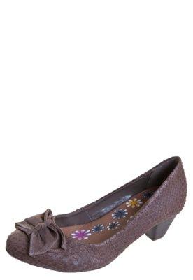 Sapato Scarpin Salto Baixo Bottero Laço Marrom