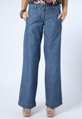 Calça Jeans Pantalona Carmim California Azul