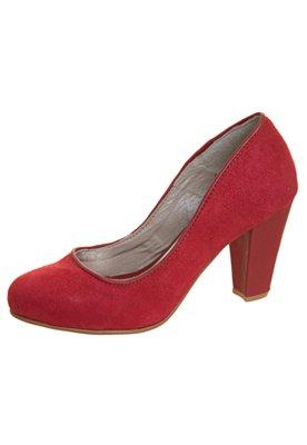 Sapato Scarpin Anna Flynn Camurça Vermelho