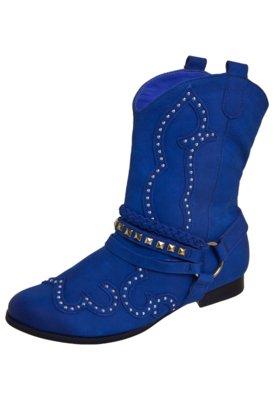 Bota Cowboy Tanara Style Azul