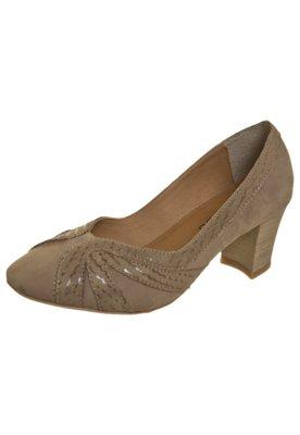 Sapato Scarpin FiveBlu Recortes Bege