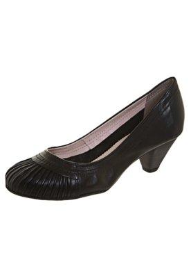 Sapato Scarpin Bottero Salto Baixo Pregas Preto