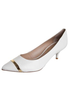 Sapato Scarpin Lilly's Closet Cap toe Salto Baixo Branco
