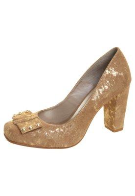 Sapato Scarpin Anna Flynn Laço SPikes Bege
