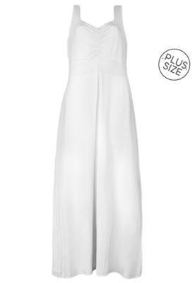 Vestido Longo Anna Flynn Clean Cinza