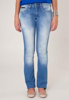 Calça Jeans Calvin Klein Jeans Reta Low Rise Azul