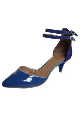 Sapato Scarpin FiveBlu Tiras Azul