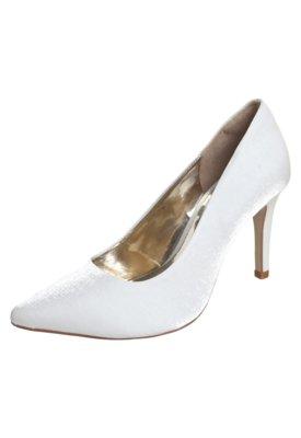 Sapato Scarpin Pink Connection Bico Fino Branco