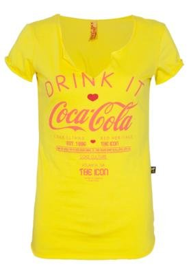 Blusa Coca-Cola Slim Drink Amarela - Coca Cola Clothing