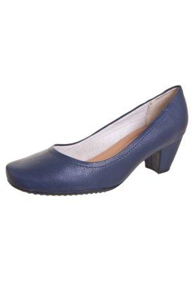 Sapato Scarpin Piccadilly Salto Grosso Azul