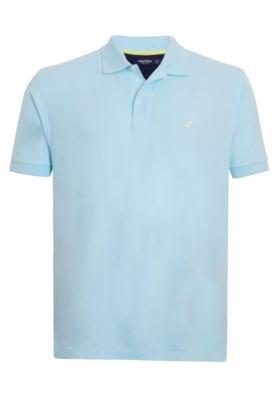 Camisa Polo Nautica Confort Azul