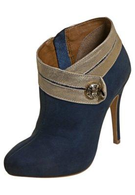 Ankle Boot Colcci Botão Azul