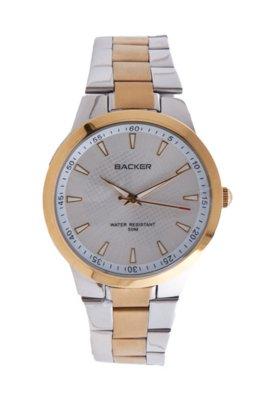 Relógio Backer M 3026164M  Prata/ Dourado