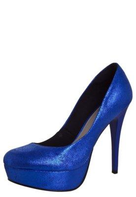Sapato Scarpin Pink Connection Shine Azul