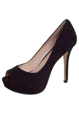 Peep Toe My Shoes Meia-pata Embutida Preto