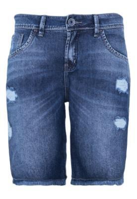 Bermuda Jeans Osmoze Desfiados Azul