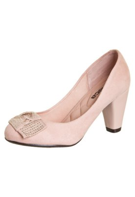 Sapato Scarpin Moleca Tie Rosa