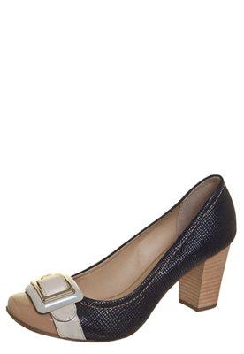 Sapato Scarpin Jorge Bischoff Fivela Grande Azul