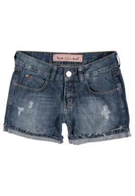 Bermuda Jeans Colcci Daria Stone Azul