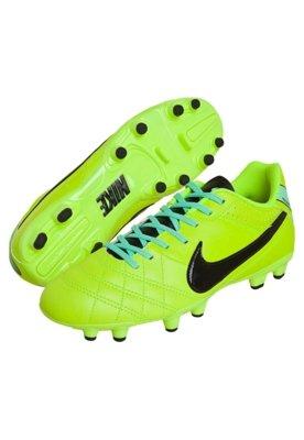 Chuteira Campo Nike Tiempo Natural IV LTHR FG Verde