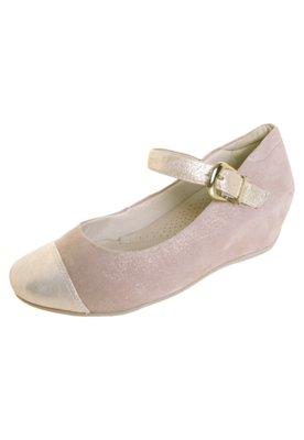 Sapato Scarpin Recorte Biqueira Bege - Comfortflex