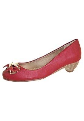 Sapato Scarpin Anna Flynn Lace Vermelho