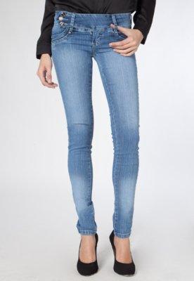 Calça Jeans Skinny Sawary Caveira Azul