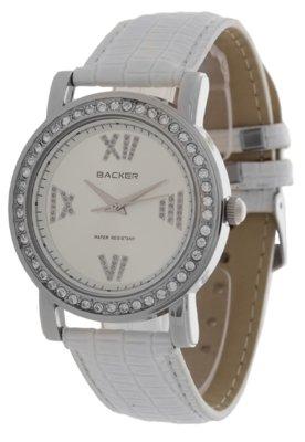 Relógio 1633122F Branco/Prata - Backer