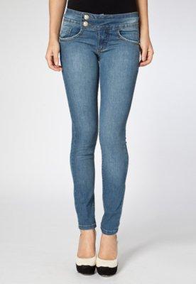 Calça Jeans Skinny Biotipo Melissa Azul