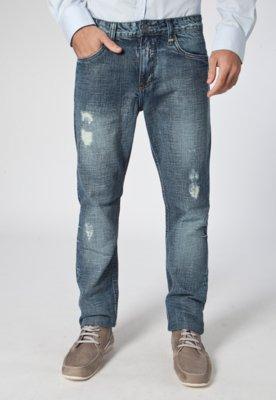 Calça Jeans John Skinny Azul - Colcci