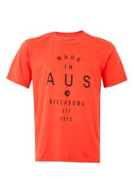 Camiseta Billabong Aus Vermelha
