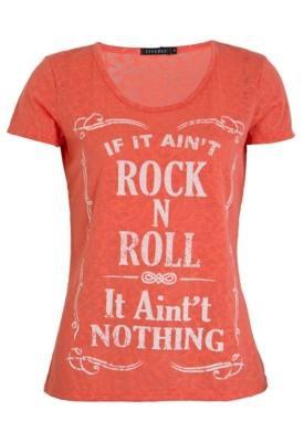 Blusa FiveBlu Rock and Roll Laranja